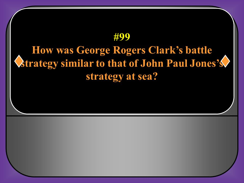How was George Rogers Clark's battle
