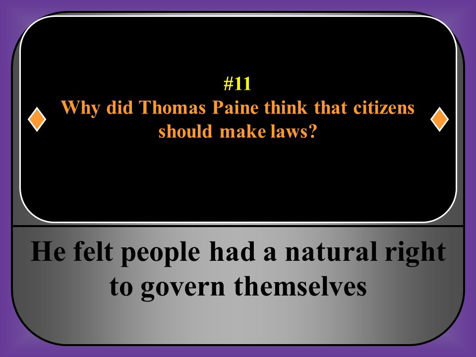Why did Thomas Paine think that citizens