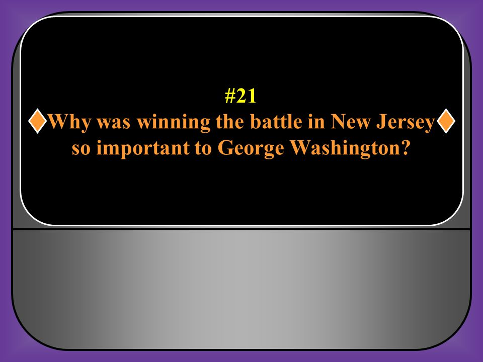 Why was winning the battle in New Jersey