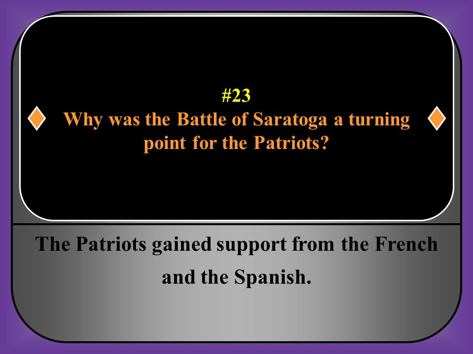 Why was the Battle of Saratoga a turning