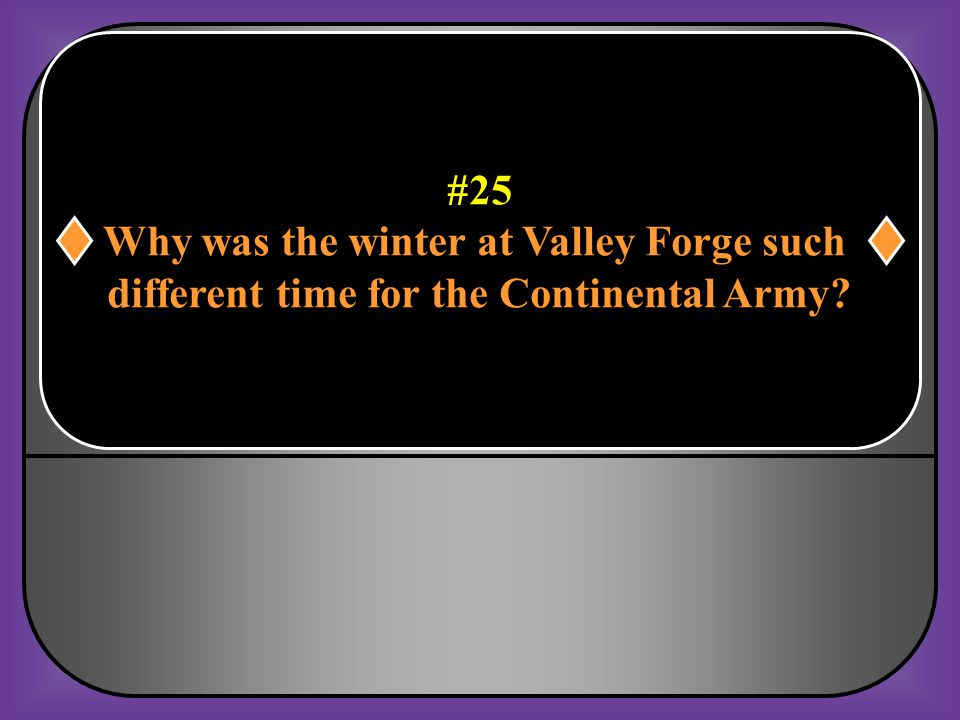 Why was the winter at Valley Forge such