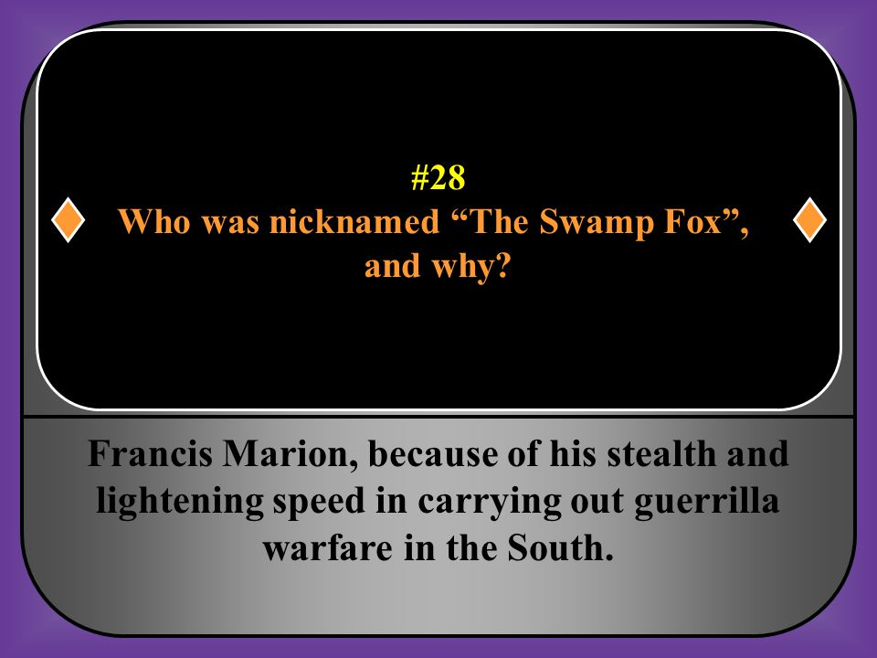 Who was nicknamed The Swamp Fox ,
