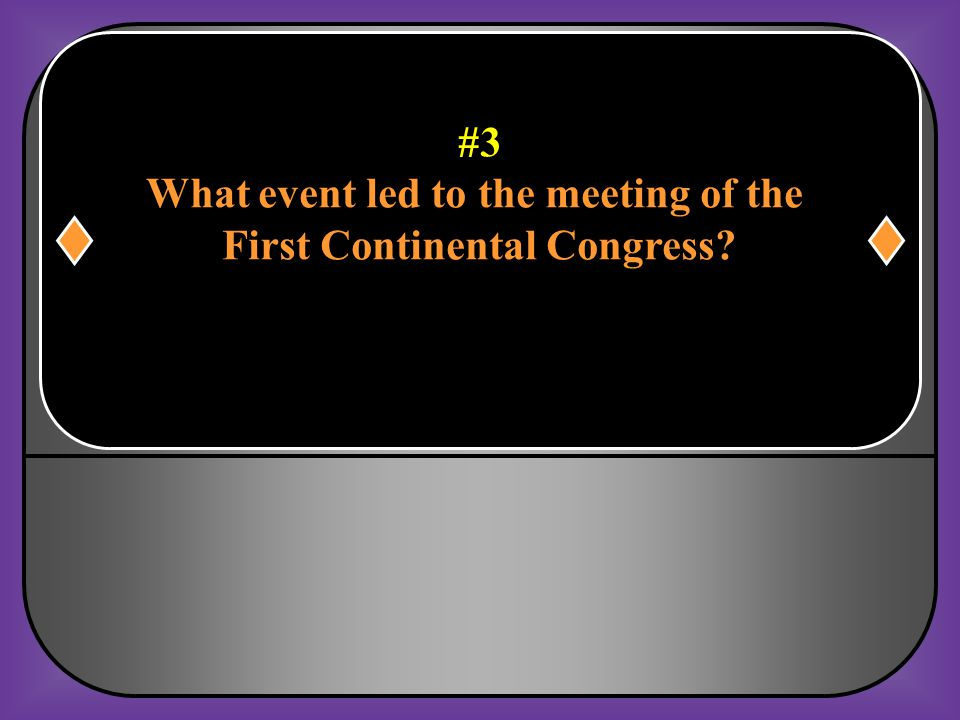What event led to the meeting of the First Continental Congress
