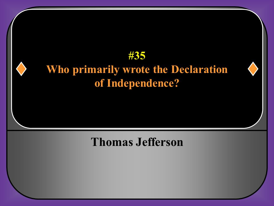 Who primarily wrote the Declaration