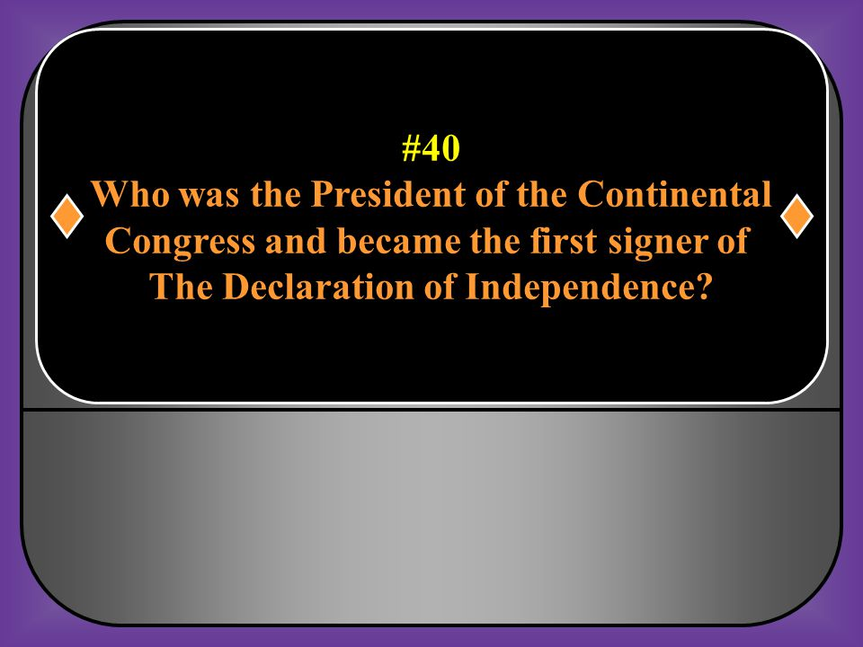 Who was the President of the Continental