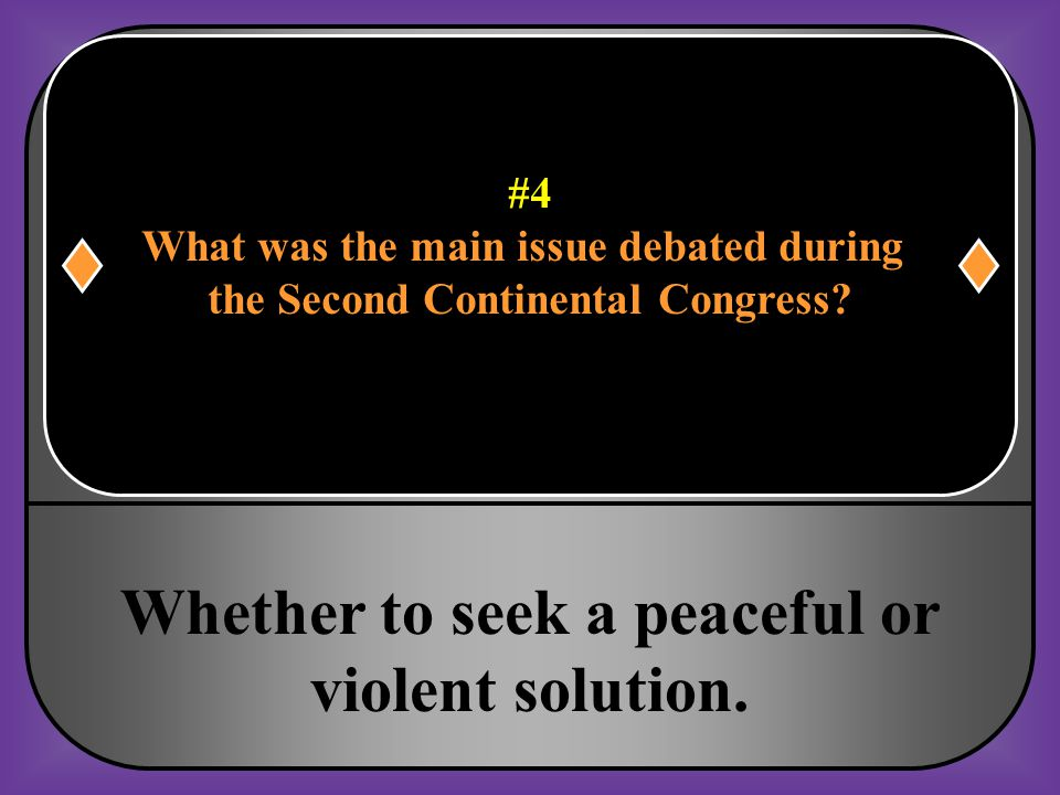 Whether to seek a peaceful or violent solution.