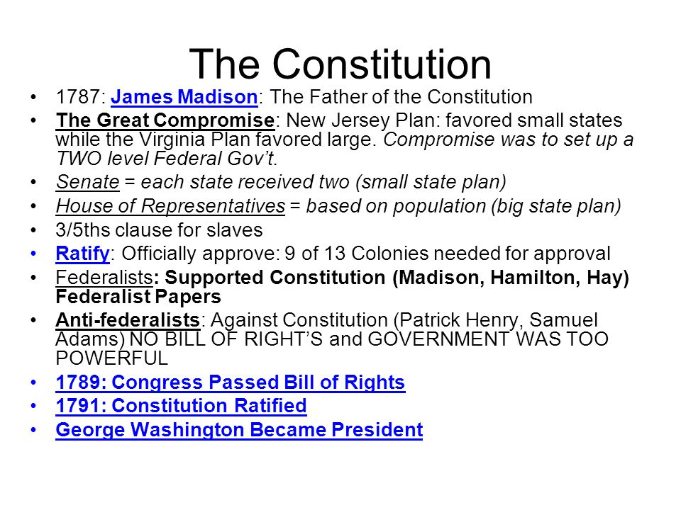 The Constitution 1787: James Madison: The Father of the Constitution