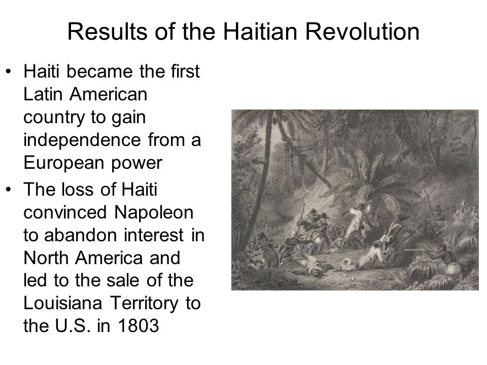 Results of the Haitian Revolution
