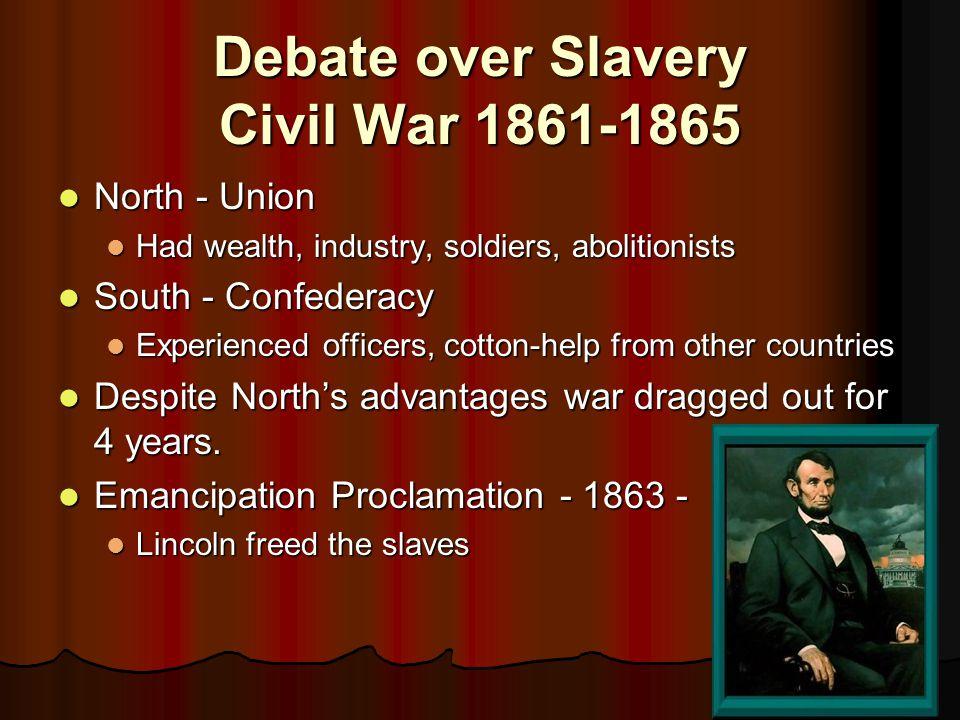 Debate over Slavery Civil War 1861-1865
