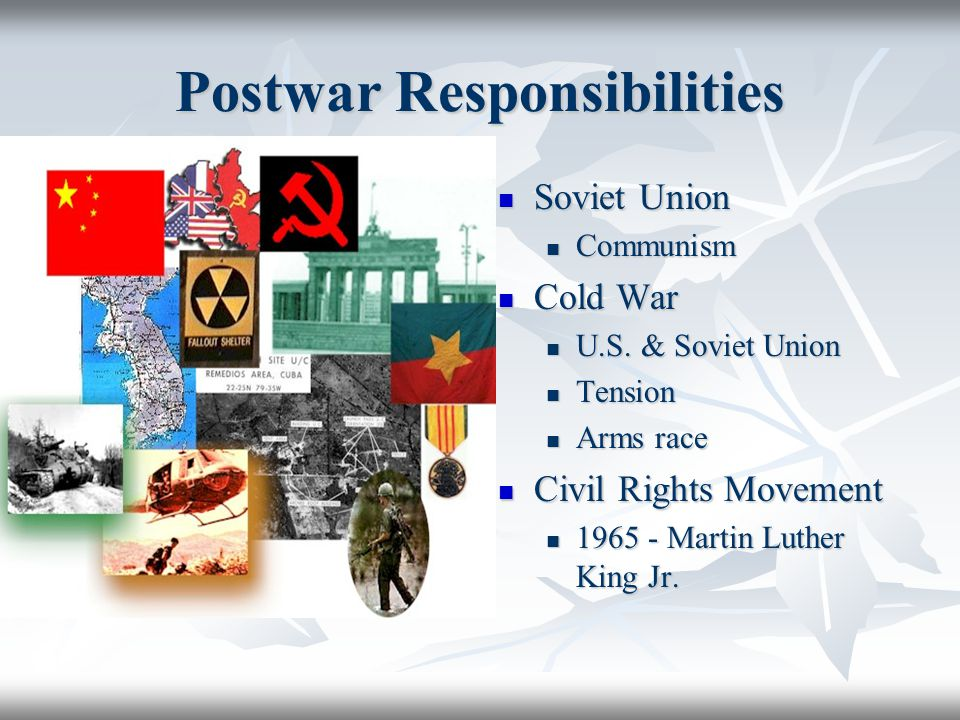 Postwar Responsibilities