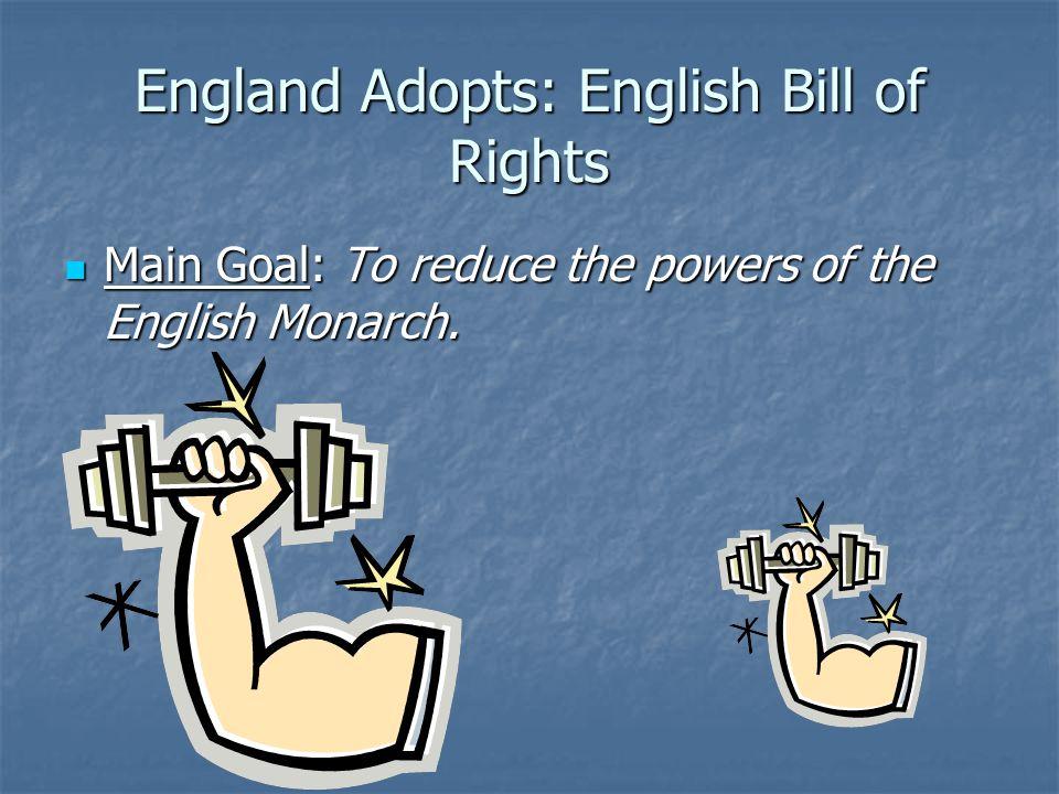 England Adopts: English Bill of Rights
