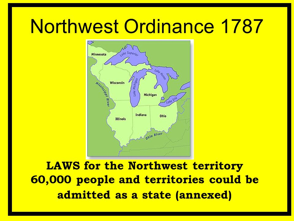 Northwest Ordinance 1787 LAWS for the Northwest territory