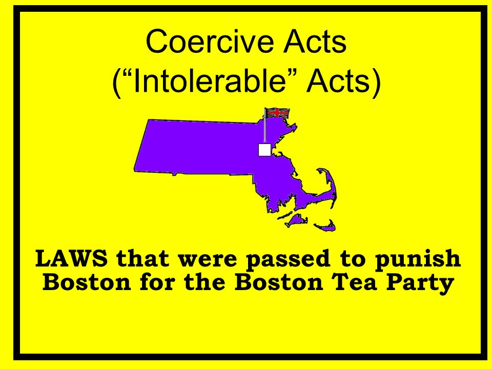 Coercive Acts ( Intolerable Acts)
