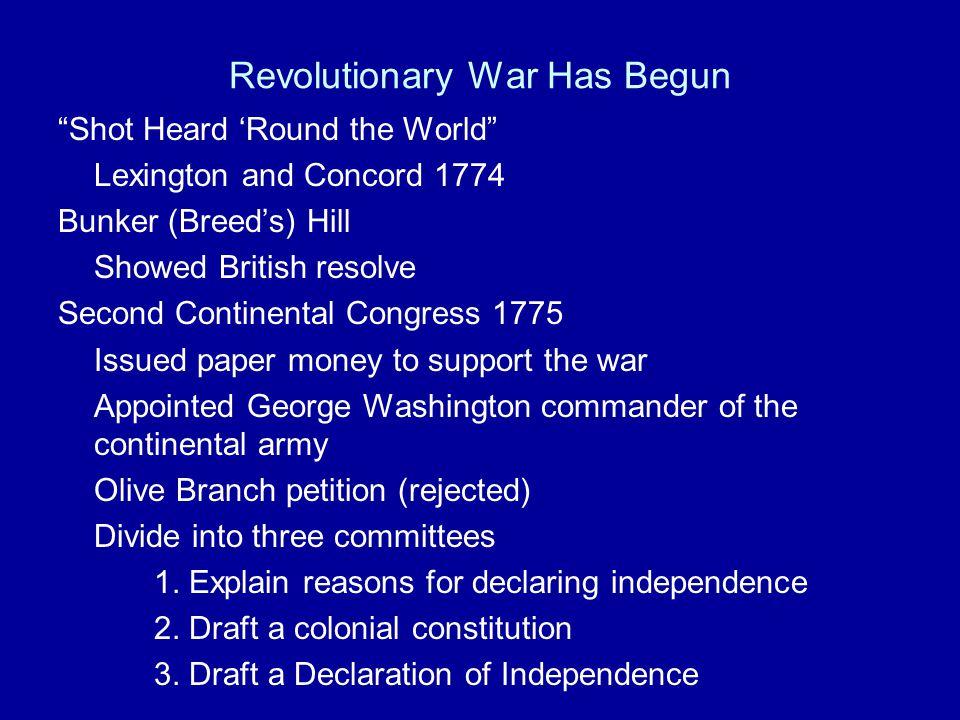 Revolutionary War Has Begun
