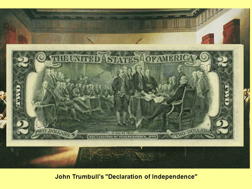 John Trumbull s Declaration of Independence