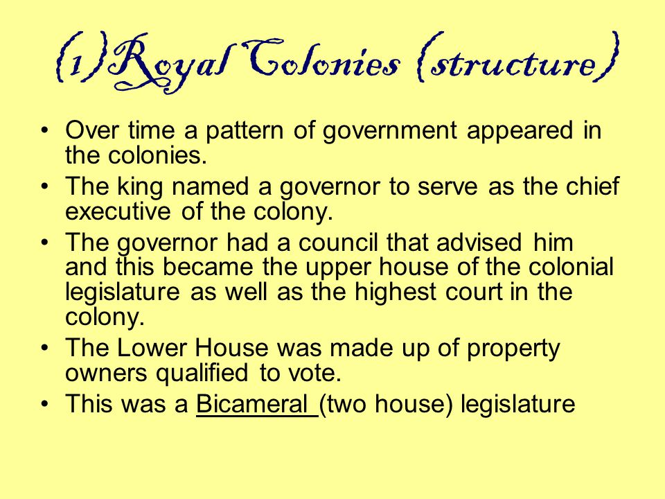 (1)Royal Colonies (structure)
