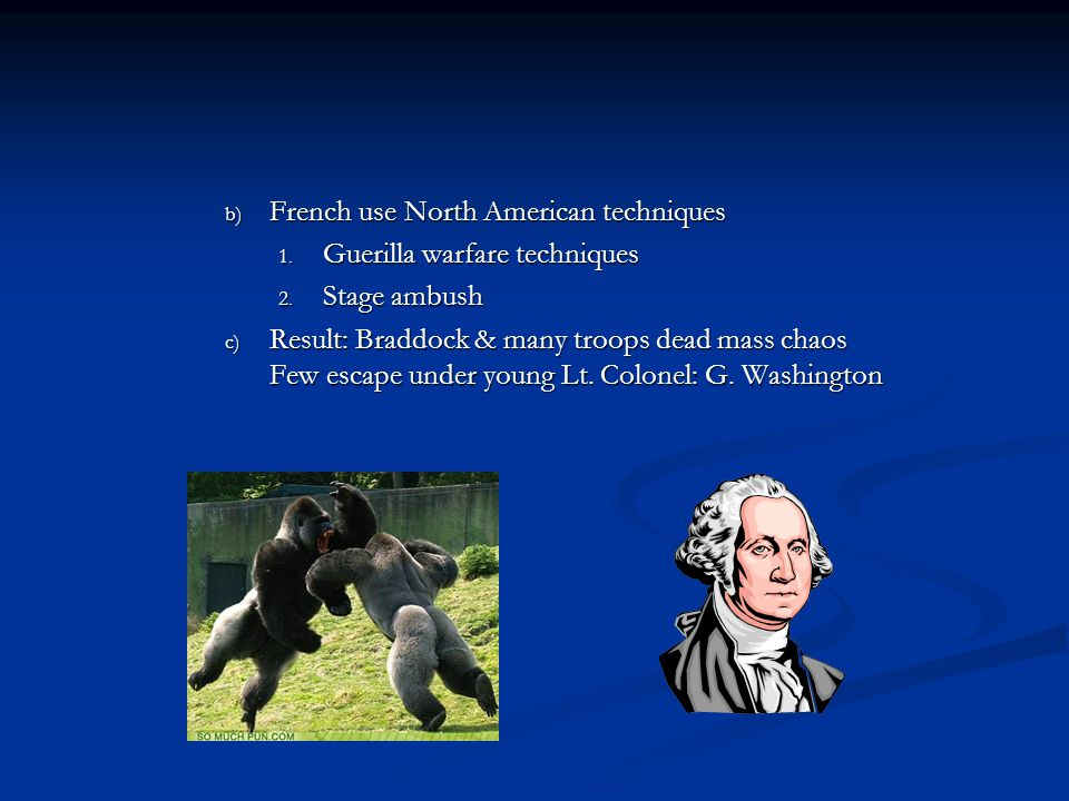 French use North American techniques