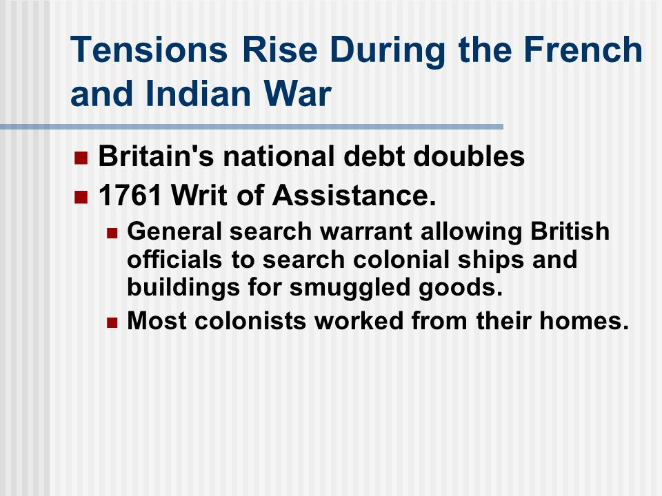 Tensions Rise During the French and Indian War