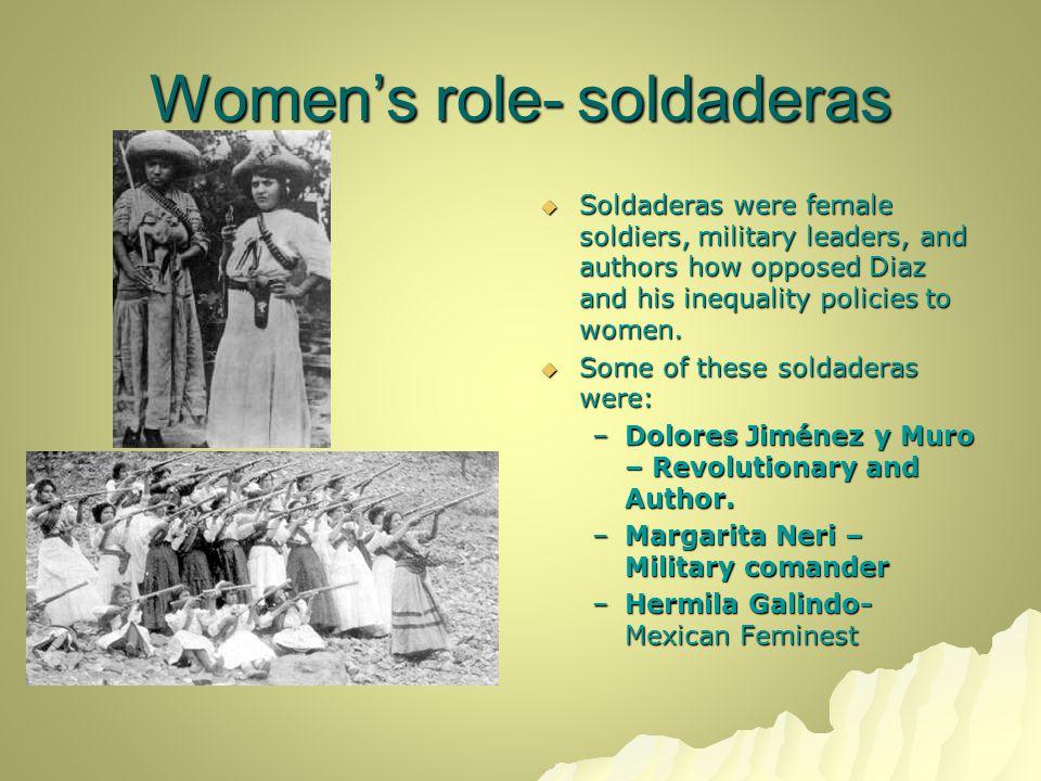 Women's role- soldaderas