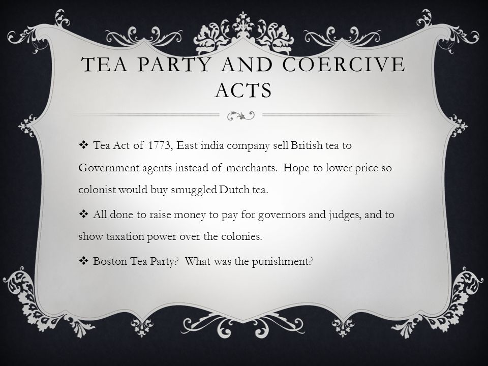 Tea Party and Coercive Acts