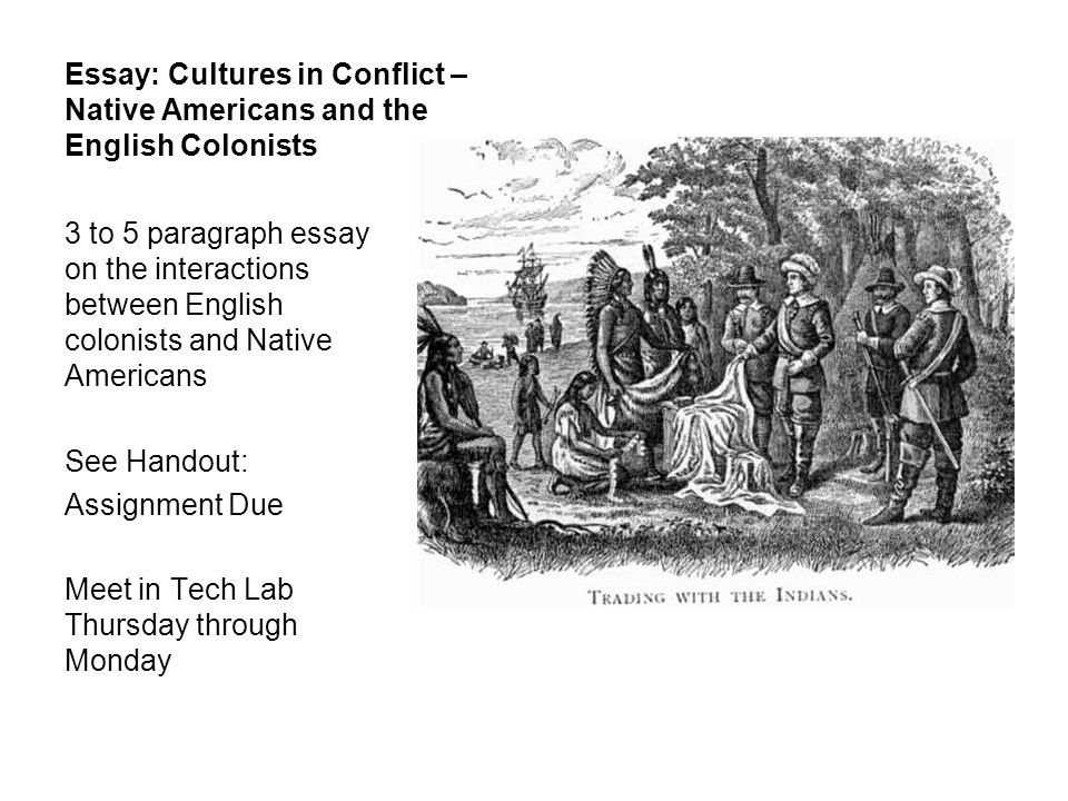Essay: Cultures in Conflict – Native Americans and the English Colonists