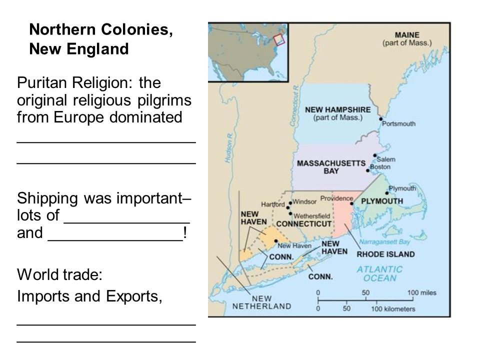 Northern Colonies, New England