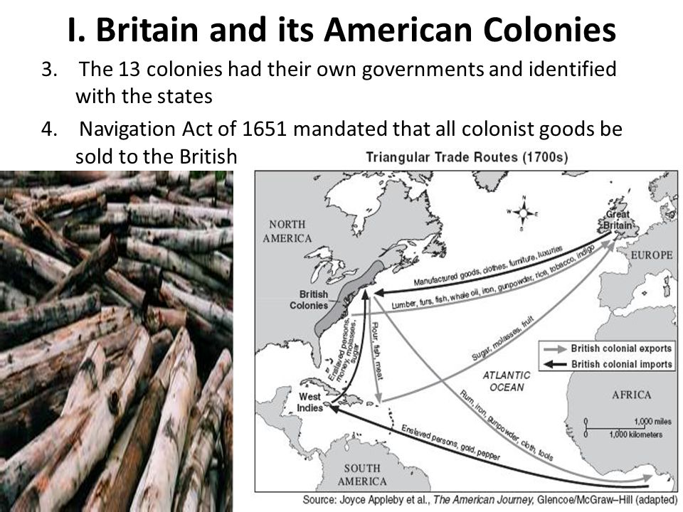 I. Britain and its American Colonies