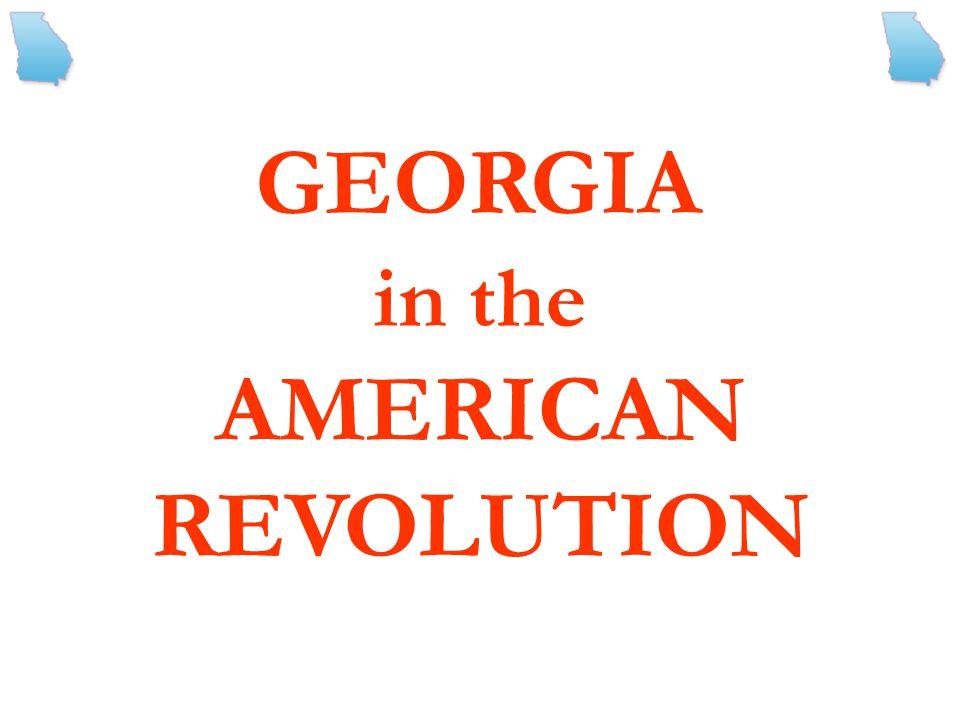 in the AMERICAN REVOLUTION