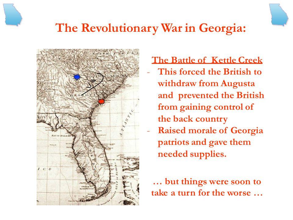The Revolutionary War in Georgia: