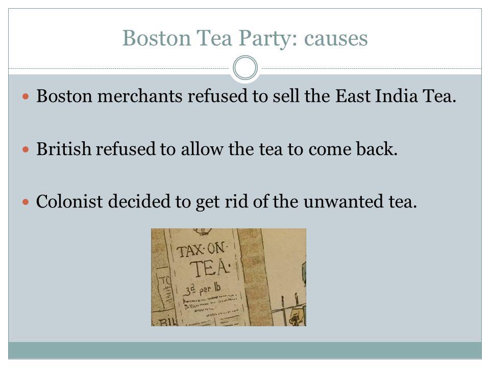 Boston Tea Party: causes