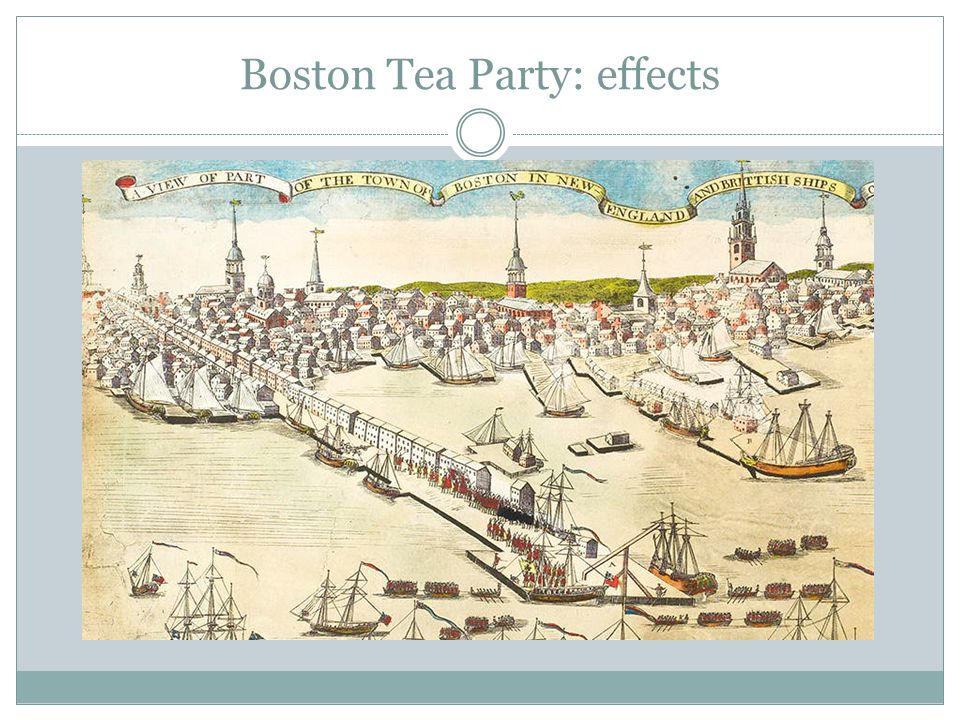 Boston Tea Party: effects