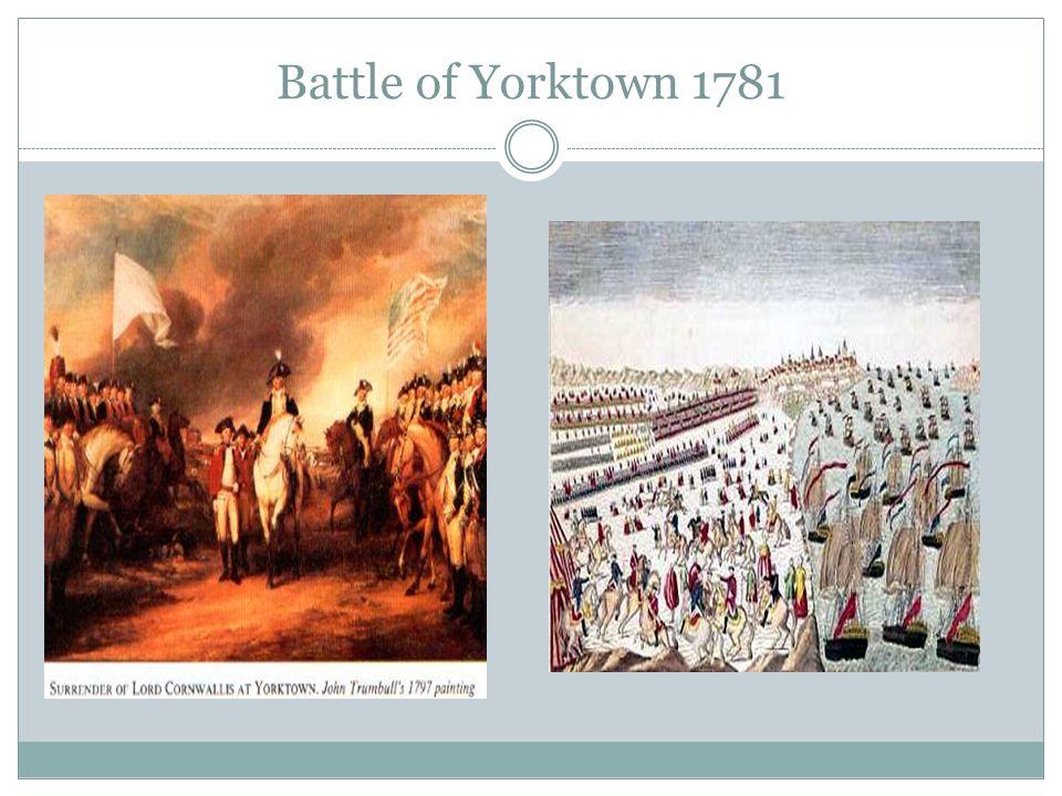 Battle of Yorktown 1781