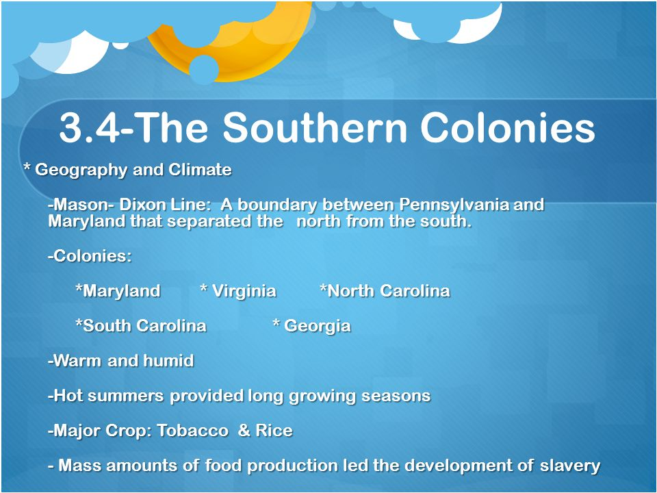 3.4-The Southern Colonies
