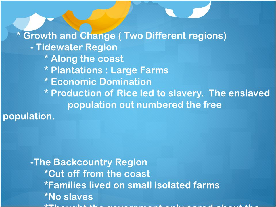 * Growth and Change ( Two Different regions)