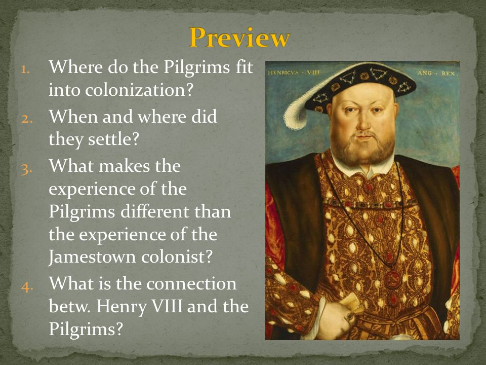 Preview Where do the Pilgrims fit into colonization