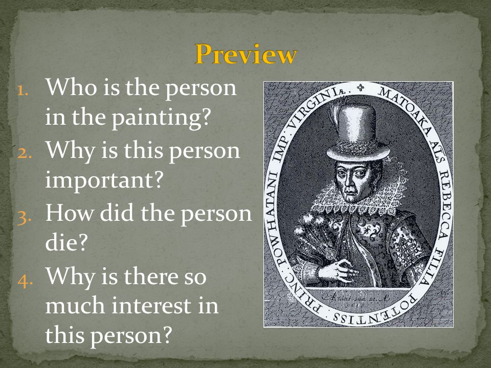 Preview Who is the person in the painting