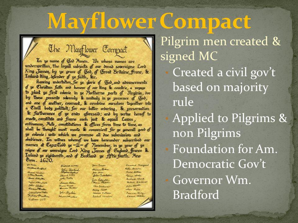 Mayflower Compact Pilgrim men created & signed MC