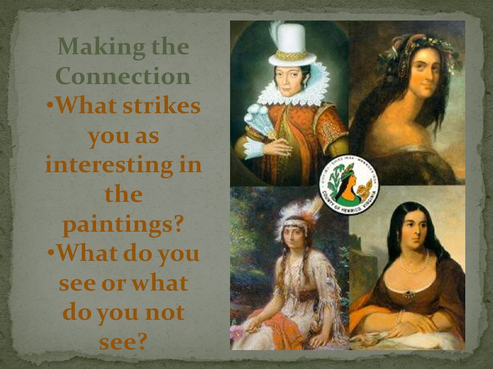 What strikes you as interesting in the paintings