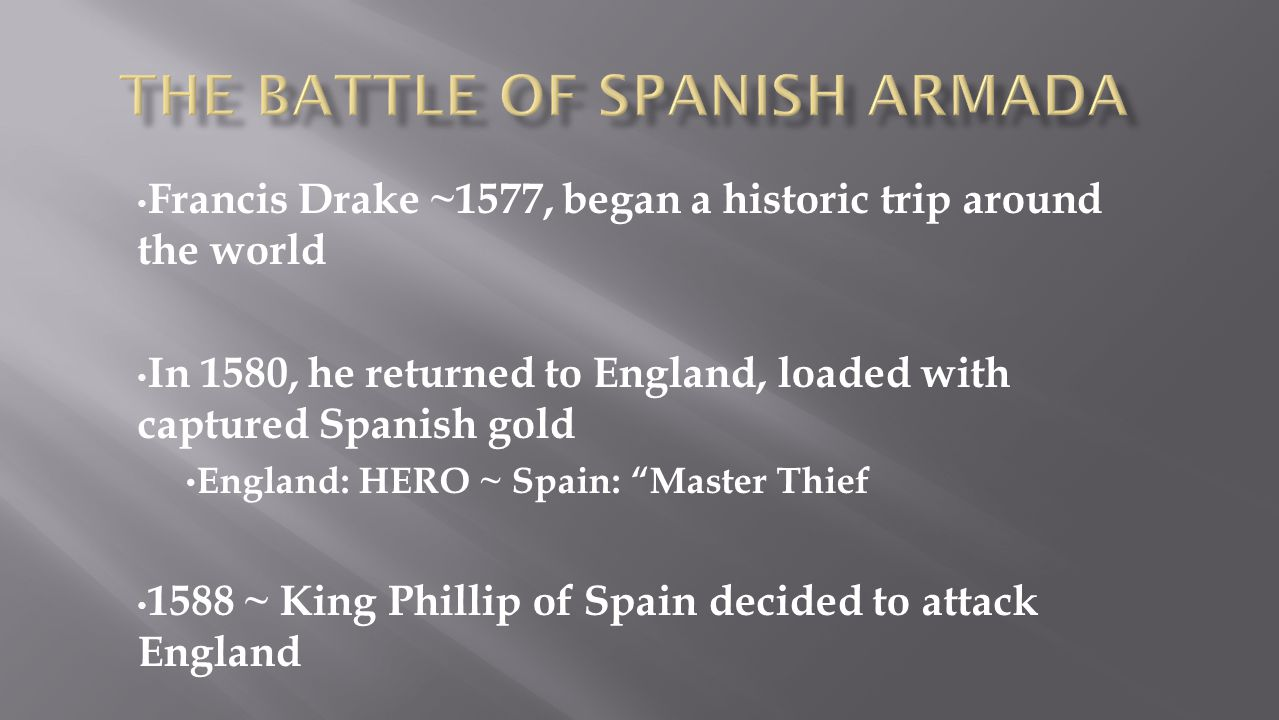 The Battle of Spanish armada