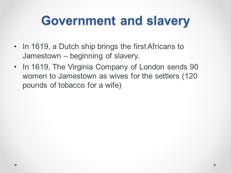 Government and slavery