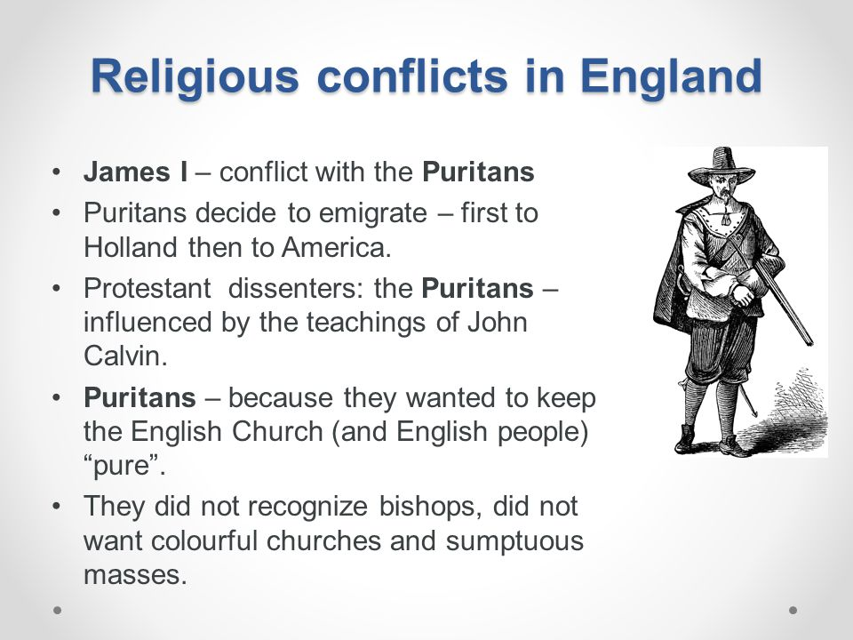 Religious conflicts in England