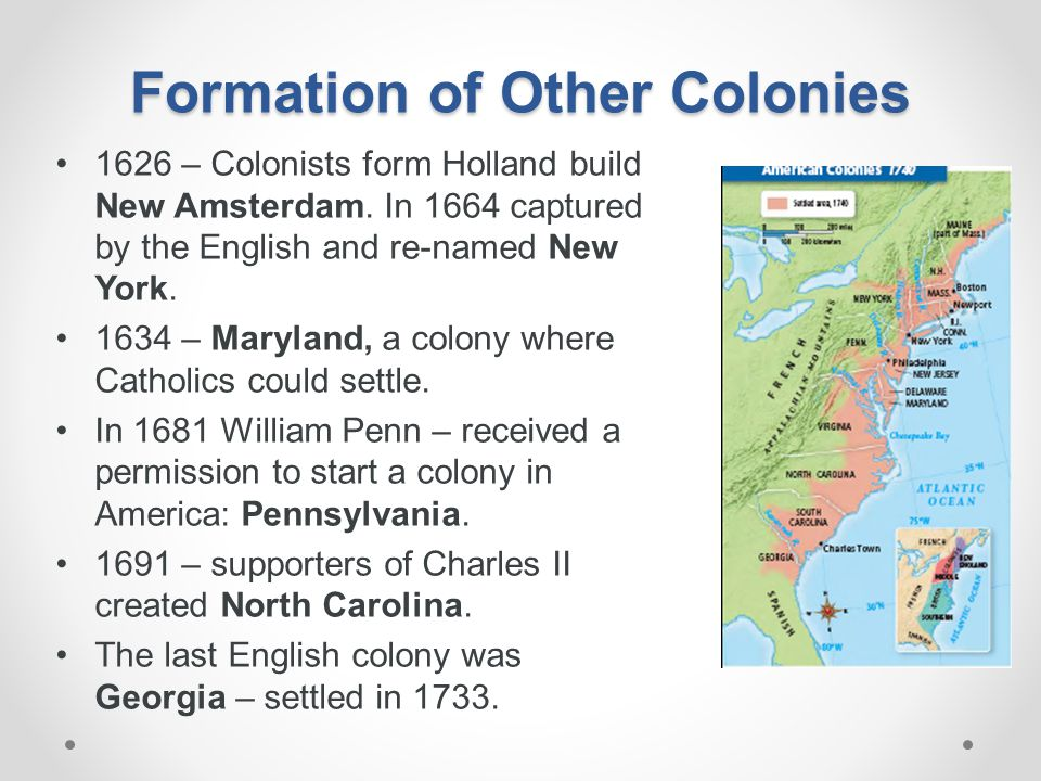 Formation of Other Colonies