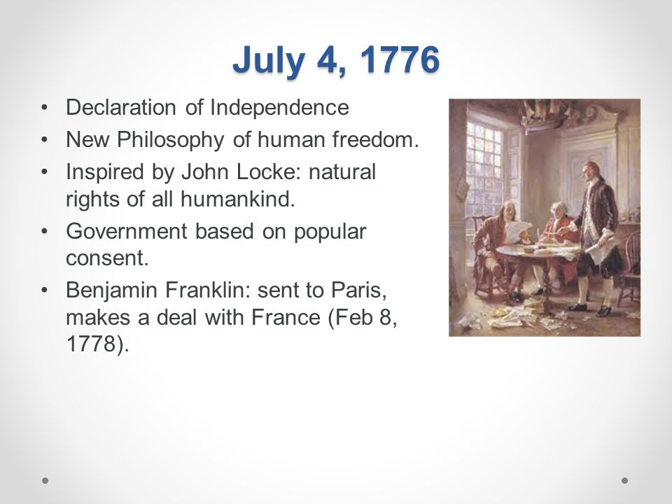July 4, 1776 Declaration of Independence