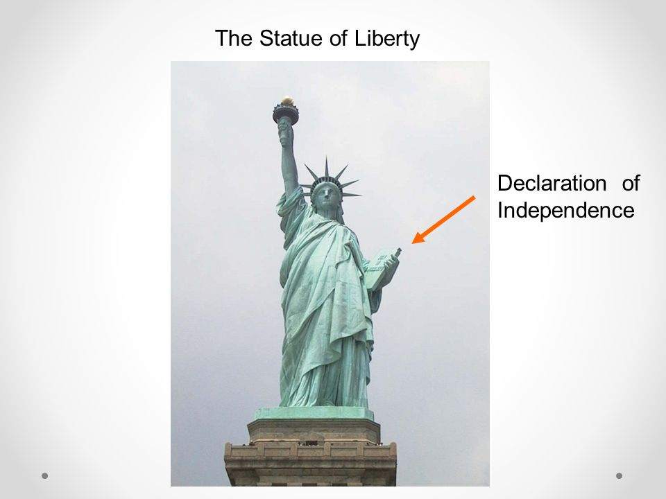 The Statue of Liberty Declaration of Independence