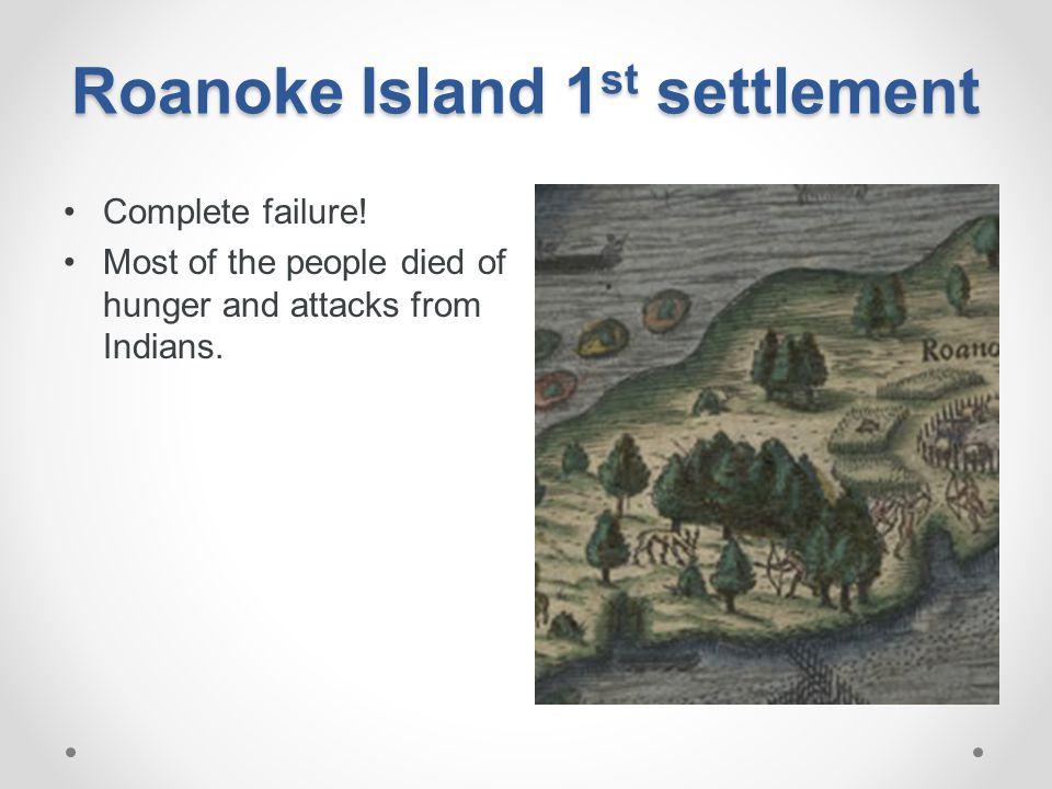 Roanoke Island 1st settlement