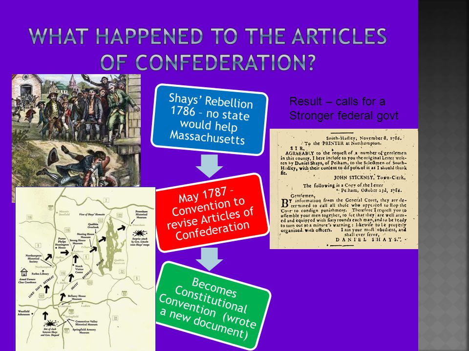 What happened to the Articles of Confederation