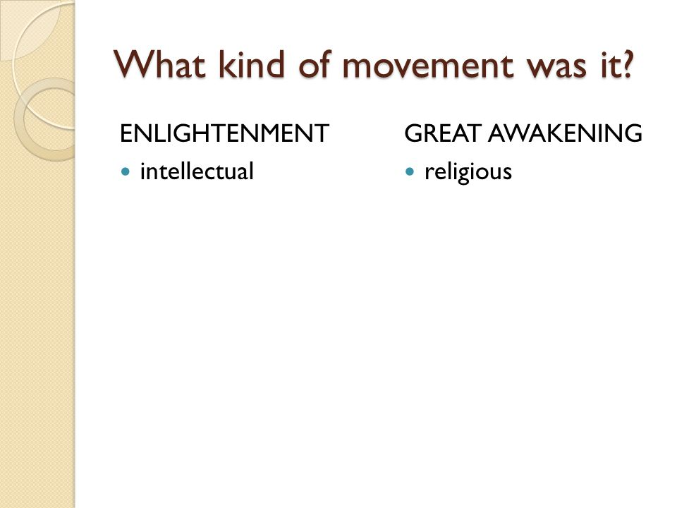 What kind of movement was it