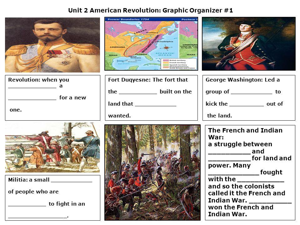 Unit 2 American Revolution: Graphic Organizer #1