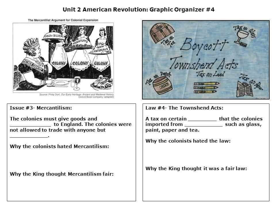 Unit 2 American Revolution: Graphic Organizer #4