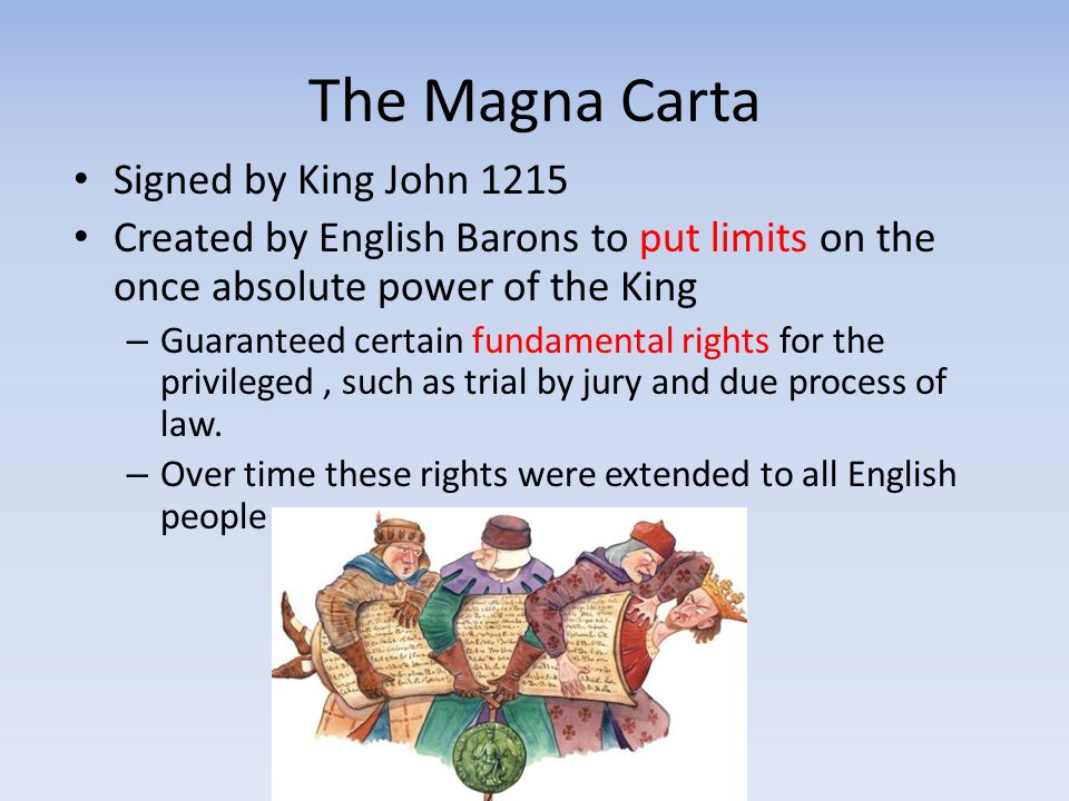 The Magna Carta Signed by King John 1215